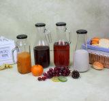 Garrafa de bebida de vidro de suco de 1,5 L com tampa