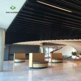 La fábrica de deflector de techo decorativas de aluminio negro con la norma ISO9001
