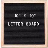 10X10 Vintage da estrutura de madeira Multifunções preto Placa Letra de feltro substituível