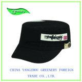 Negro bordado sencillo promocional Gorra militar