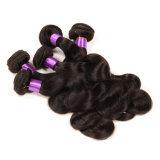Capelli brasiliani del Virgin puro di prezzi all'ingrosso 100%, trama di tessitura dell'onda del corpo dei capelli brasiliani di Remy di alta qualità