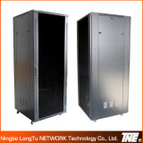 Gabinete de rede 42u com porta de vidro de temperatura frontal e porta de metal traseira
