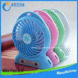 Ventilador portátil do USB do ventilador Desktop recarregável pequeno ao ar livre pessoal do ventilador do curso do ventilador mini