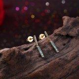 Boucle d'oreille exquise plaquée par or original de Kallaite de goutte pour les oreilles de modèle