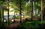 庭のための新しいデザインオールインワン太陽ライト