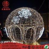Ce/RoHS 크리스마스 Decoraitons 정원을%s 옥외 큰 8m 3D 고무 공 주제 빛