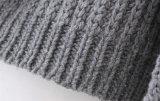 Europäische Art-lange Hülse gestrickte Pullover-Strickjacke