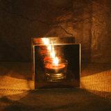 Neues Quadrat-Glas widergespiegelter Tee-Licht-Kerze-Halter der Ankunfts-2017