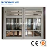 Aluminiumflügelfenster-Fenster mit Gitter-Franzose-Art