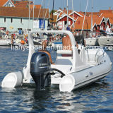 Barco inflable de la costilla del PVC del barco del casco de la fibra de vidrio de Liya los 6.2m Hypalon