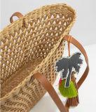 Малый цветастый мешок Tote лозы пляжа украшения Tassel (LD-17003)