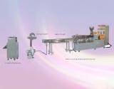 El plástico gemelo del tornillo saca la cadena de producción, 300/400/500rpm, salida: 100-250kgs/H, motor: 45-55kw