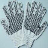 С одной стороны ПВХ пунктирной природных трикотаж хлопок безопасности рабочие перчатки