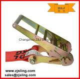 """En12195-2 4 """" cinta lisa 4 """" X 30 ' da catraca da carga dos ganchos"""