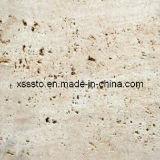 Бежевые плитки мрамора травертина для стены и Floooring