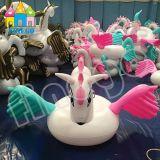 Поплавок бассеина лебедя единорога Пегас воздуха игрушки воды раздувной цветастый