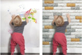 Material de construção Faux Painel de parede de tijolo/Papel