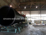 Le HDPE a profilé la ligne spiralée grand diamètre d'extrusion de pipe