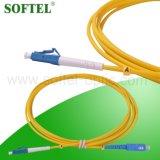 Cordon de connexion du mode unitaire MPO de faisceaux de la fibre optique 12 de duplex de mode unitaire