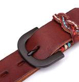 China-Fabrik-niedriger Preis-Weinlese-Artbrown-lederne Taillen-Riemen
