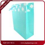 Sac à provisions coloré de papier d'emballage avec des clients de la merveille de la nature pliée de traitement, sac de papier d'achats