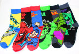 Mens-Baumwolle trifft Wunder-Comics-Superheld-beiläufige Knie-Socken hart