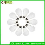 indicatore luminoso di lampadina di 5000k 5W LED 110lm/W con l'alluminio rivestito della plastica