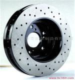 Disques durables de frein de véhicule de fer de moulage de bonne qualité pour Audi A1 1j0615301d