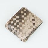 Bolso de couro tecido venda por atacado da moeda da bolsa do plutônio da forma das mulheres da carteira