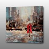 MP-529 Abstract Streetscape Peinture acrylique d'art populaire de l'huile