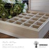 ¡Venta caliente de Hongdao! Caja de madera con cubierta transparente para el té y el aceite esencial de embalaje