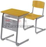 최신 판매 교실 가구 나무로 되는 조정가능한 단 하나 책상 & 의자