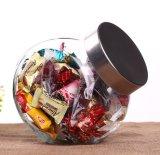 Articolo da cucina di vetro della cristalleria di immagazzinamento in il vaso del coperchio inclinato della vite