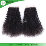 Chiusura naturale del merletto dei capelli umani di 100% in capelli brasiliani