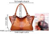 Il sacchetto di spalla molle del Tote del cuoio genuino dell'annata delle donne Parte-Tratta la borsa trasversale di Ladys delle borse del corpo