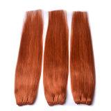 """27# castanha em linha reta de cabelo humano tece 1PC Pacote de tecelagem de cabelo espesso 5A Trama da Máquina Wefted Duplo Promoção Cabelo 18"""" ~ 24"""""""