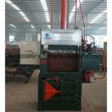 Máquina hidráulica de la embaladora para el papel usado