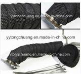 Coletor de Escape de fibra de vidro preto isolante térmico do tubo de Cintagem