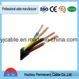 Le fil électrique gainé conduite sur le fil de cuivre du fil rond à gaine PVC Câble