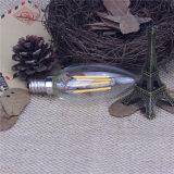 Bulbos mencionados Dimmable 2200k del filamento de la vela de la UL 120V 2With4W E12 LED
