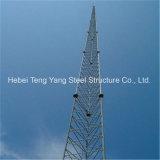 Torretta d'acciaio della grata di a microonde di comunicazione triangolare dell'antenna
