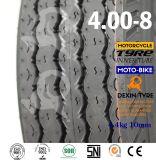 Neumático profundo 4.00-8 de Tuk Tuk del neumático del policía motorizado del neumático tres del triciclo de Mrf del modelo