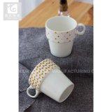 Tamanho pequeno copo de cerâmica para crianças/Caneca empilháveis 10oz com logotipo da empresa