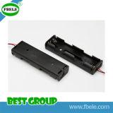 Ficha preta de plástico e metal suporte da bateria do telefone celular