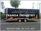 Caminhão móvel personalizado do alimento do gelado na venda com Ce