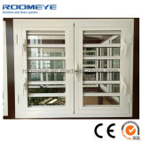 Finestra impermeabile bianca di alluminio della gelosia della finestra dell'otturatore della finestra della feritoia