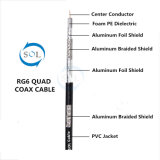 75ohm Digital CATV Communication Super Shield RG6 Coaxial Cable (Quad)