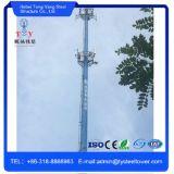 WiFi en acier galvanisé tuyau unique Telecom Tower Monopole Pole