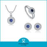 Púrpura nuevo conjunto de joyas de plata esterlina 925 enemigo de la Mujer (J-0015)