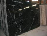 Brames de marbre noires normales Polished de Marquina pour le mur de plancher